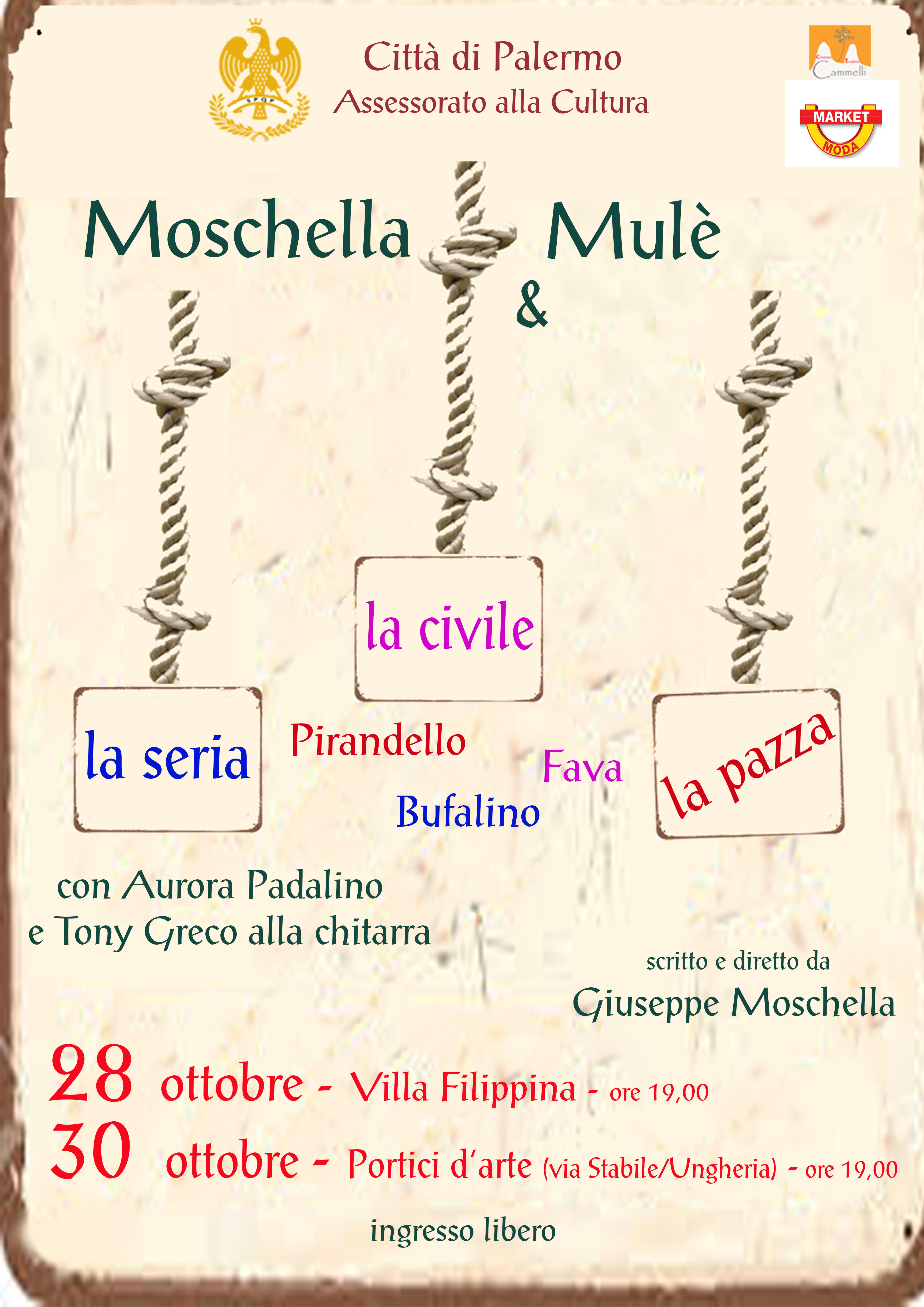 Moschella&Mulè in un reading con musiche dal vivo
